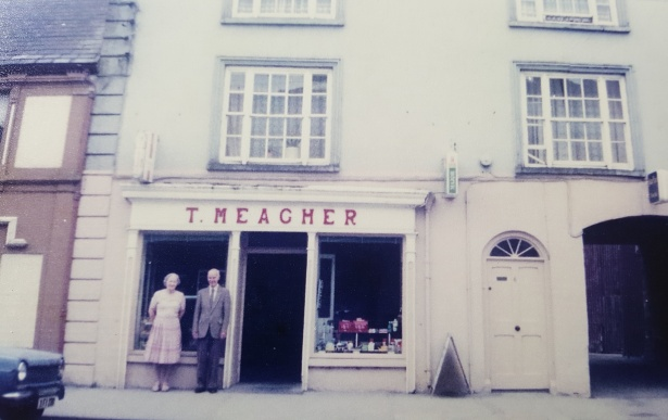 Tim and Mary Meagher outside their shop in Templemore