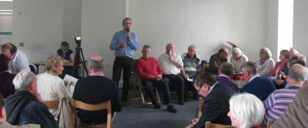 Henry Healy addressing the genealogy workshop at Damer House Roscrea