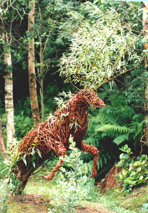 First ever Willow sculpture titled The Greenmantle