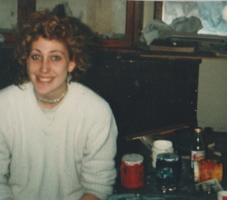 Lynn at art college (1982)