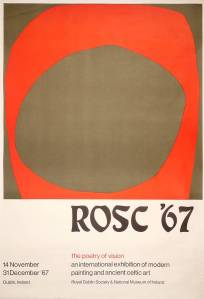 Rosc 1967 poster designed by Patrick Scott